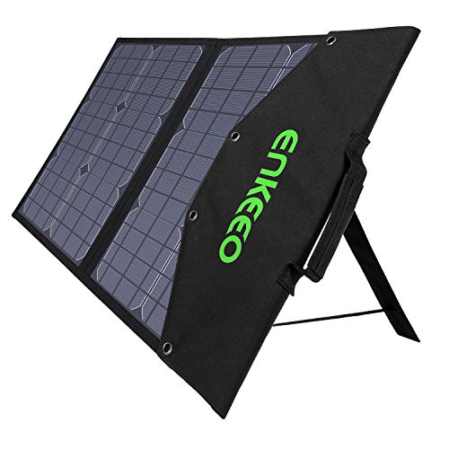 ENKEEO 50W Solar Charger, Foldable Solar Panel with MPPT Controller and TIR-C, DC, USB QC 3.0 and...