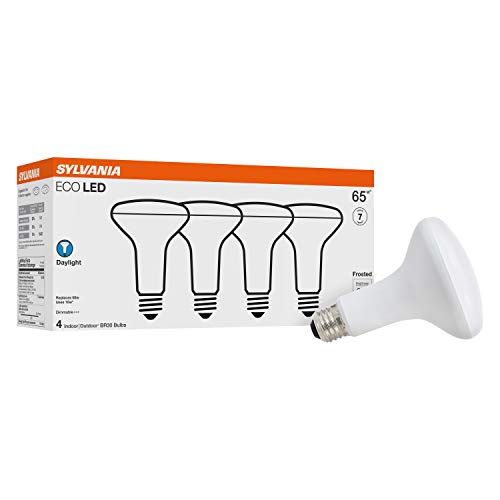 Sylvania LED BR30 65W Equivalent, Efficient 10W, Daylight Color Temperature 5000K, 4 Pack