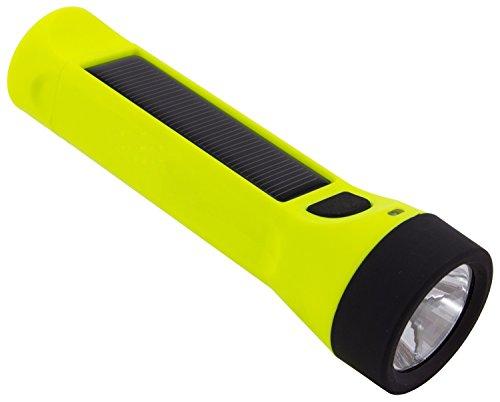 Hybridlight Journey - Solar / Rechargeable 160 Lumen LED Waterproof Flashlight. High / Low Beam, USB...