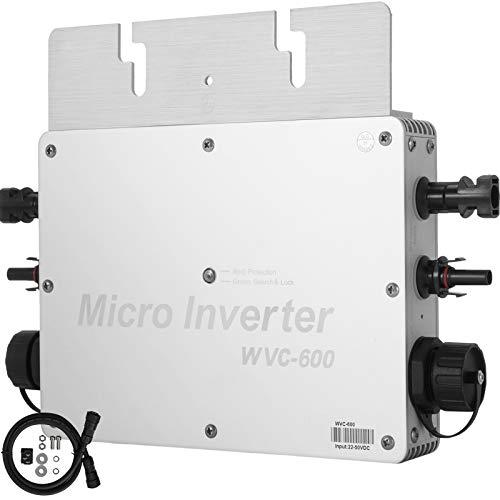 Mophorn Solar Grid Tie Inverter, 600W MPPT Waterproof Solar Grid Tie Inverter DC to AC 110V Micro...