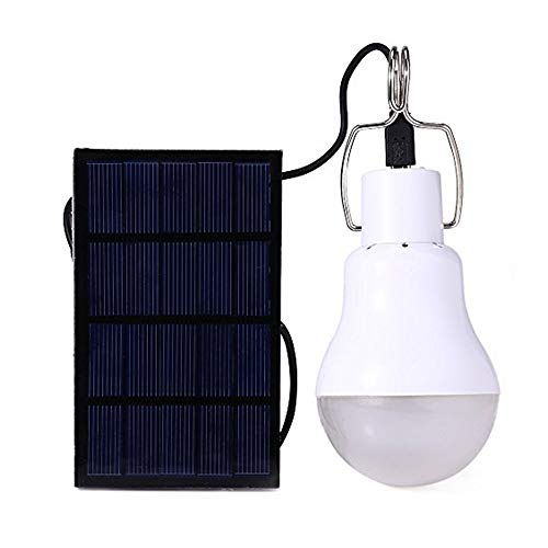 Afoskce Solar Light Bulb Outdoor 130LM Portable Solar Powered Led Bulb Light for Chicken Coops Shed...