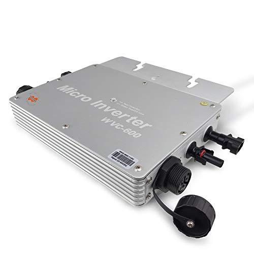 Marsrock IP65 Waterproof 600W Micro Solar Inverter Converter with DC 22-50VDC Wide Input Voltage to...
