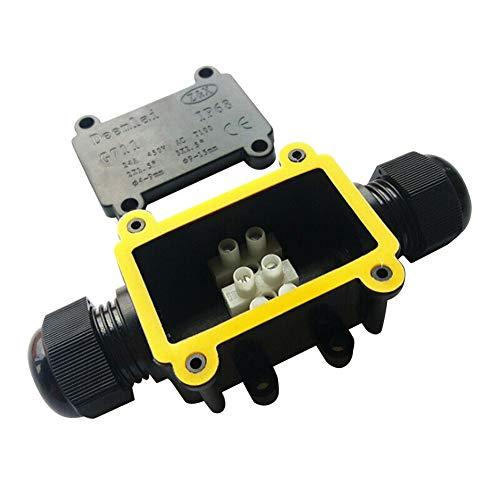 Junction Box Waterproof IP68 2 Way Plug Line,Connector Wire Range 4 to 15mm,4Pack