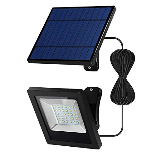 Solar Lights Outdoor-Floodlight Security-Led IP65-Porch - Light with 16.4Ft Cord, Wide Adjustable...