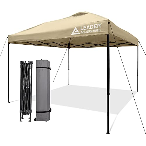 Leader Accessories Pop-Up Canopy Tent 10'x10' Canopy Instant Canopy Straight Leg Shelter with...