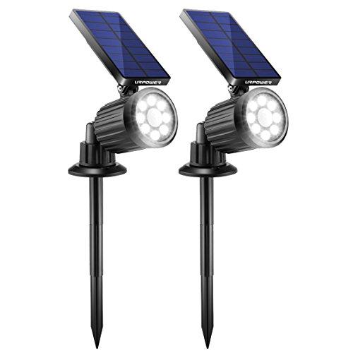 URPOWER Solar Lights Outdoor, 4th Generation Solar Spotlight 2-in-1 Waterproof Motion Sensor...