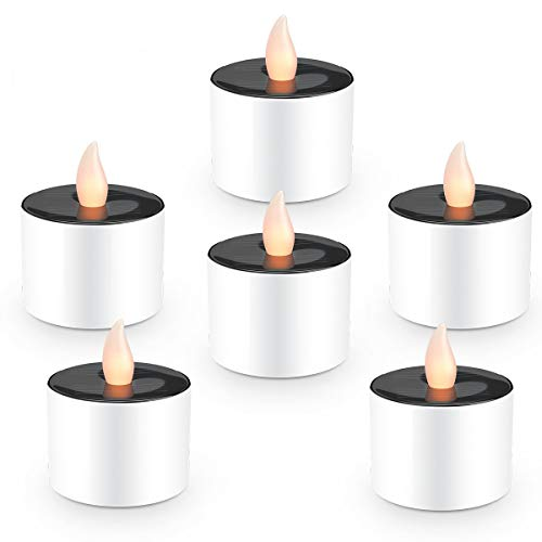 Solar Candles Flameless Rechargeable Candles LED Tea Lights Candles Battery Operated Upgraded Solar...