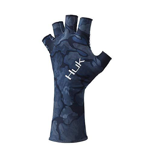 Huk Men's Sun Quick-Drying Fingerless Fishing Gloves, Pei, Large-X-Large