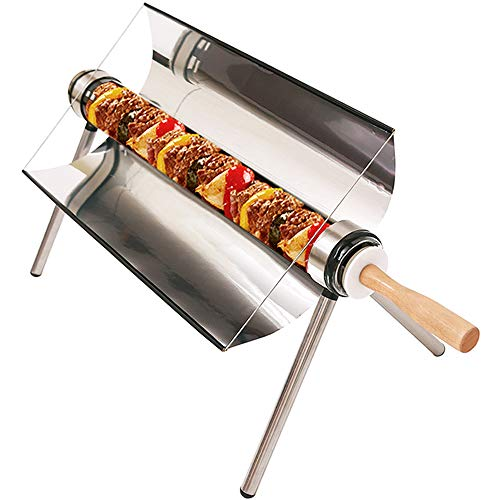 Portable Solar Oven,All Seasons Sun Cooker BBQ Grill Picnic Food Heater Kebab Roast Charbroiler With...