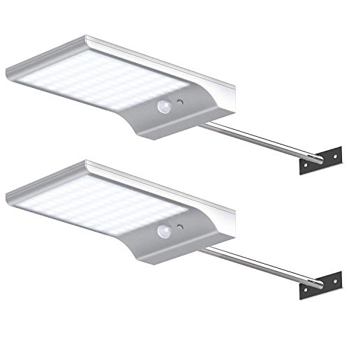 InnoGear Solar Gutter Lights Wall Sconces with Mounting Pole Outdoor Motion Sensor Detector Light...