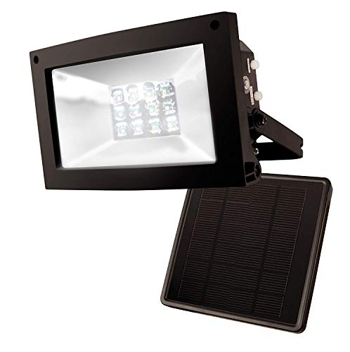 "Maxsa 40330 80LM 12 LED Solar-Powered 10 Hour Flood Light, Weatherproof, 8.5"" x 7.5"" x 4.5"",..."