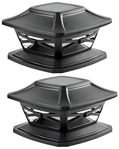Davinci Lighting Flexfit Solar Outdoor Post Cap Lights - One-Size-Fits-All Base for 4x4 5x5 6x6...