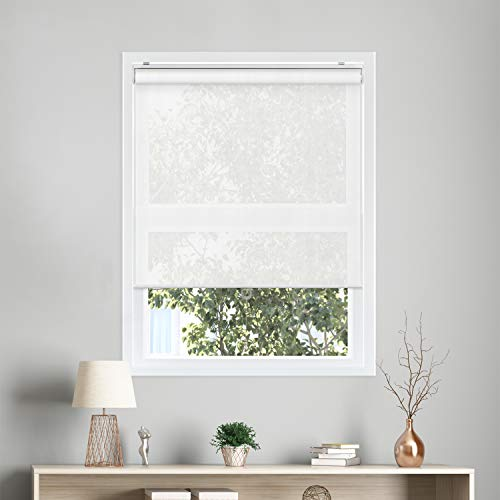 CHICOLOGY Cordless Roller Shades Snap-N'-Glide Perfect for Living Room/Bedroom/Nursery/Office and...