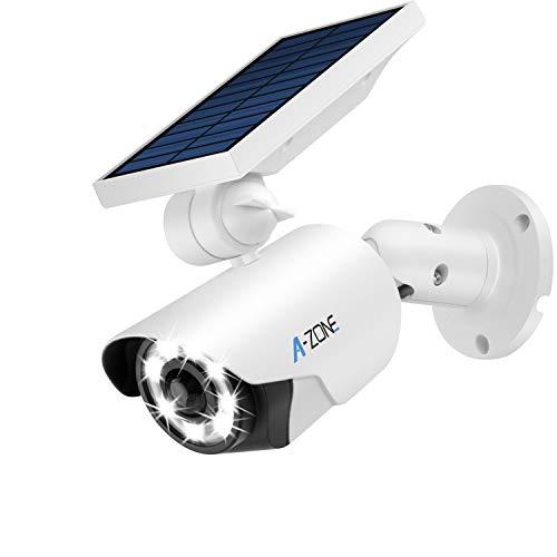 Solar Motion Sensor Light Outdoor - 800Lumens 8 LED Spotlight 5-Watt Solar Lights Outdoor IP66...