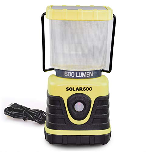 Blazin Rechargeable Solar Camping Lantern | 600 Lumen USB Solar Camp Lantern | Emergency Power Bank...