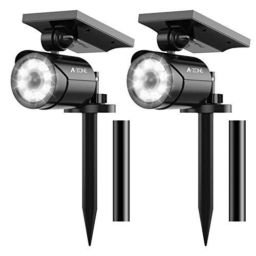 Solar Motion Sensor Light Outdoor - 800 Lumens 8 LED Spotlight 5W Security Solar Lights Outdoor IP66...