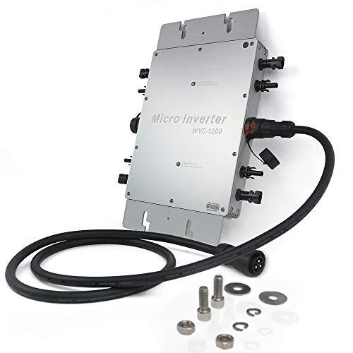 Marsrock IP65 Waterproof 1200W Micro Grid Tie Solar Inverter 22-50VDC to 80-160VAC (110vac) Pure...