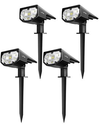 LITOM 12 LEDs Solar Landscape Spotlights, IP67 Waterproof Solar Powered Wall Lights 2-in-1 Wireless...