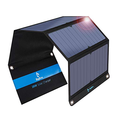 [Upgraded]BigBlue 3 USB Ports 28W Solar Charger(5V/4.8A Max), Foldable Portable Solar Phone Charger...