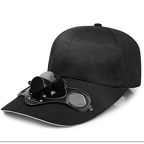 QOHNK Summer Men Women Sport Outdoor Sun Protection Baseball Hat Cap with Solar Sun Power Cooling...