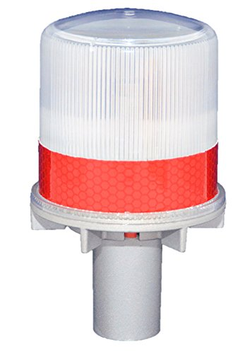 S4L RED 1/4NM SOLAR FLASHING LED Marina Dock Barge Boat Safety Beacon Light