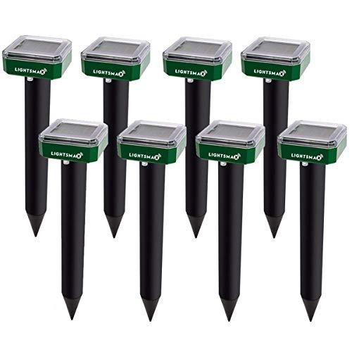 LIGHTSMAX Mole Repellent Mole Repeller Solar Powered Gopher Repellent Ultrasonic Vole Repellant...