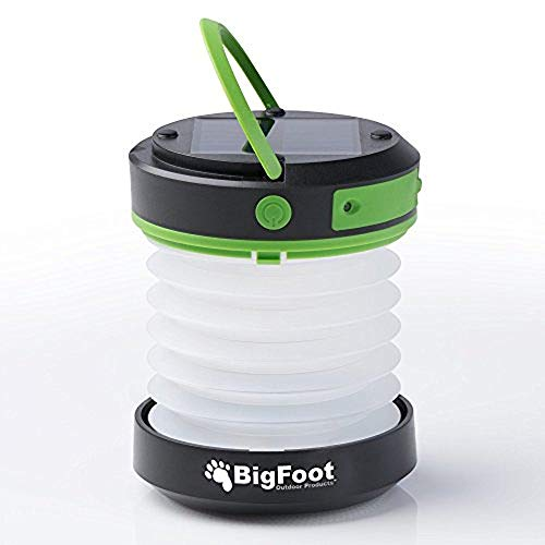 Bigfoot Outdoor Products Compact Solar Camping Lantern with USB PowerBank Great for Camping, Hiking...