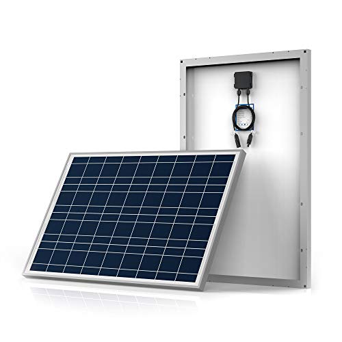 ACOPOWER 100w Poly Solar Panel with PV Connectors for 12 Volt Battery Charging RV, Boat, Off Grid