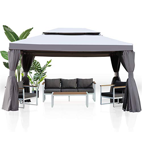 Grand patio 10x13 Feet Patio Gazebo, Outdoor Canopy with Mosquito Netting and Shade...