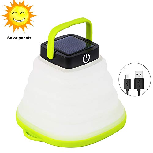 Solar Portable Led Camping Lantern Lights Outdoor -Tabletop Lantern Rechargeable Emergency Light...