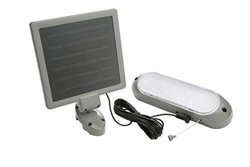 Designers Edge L-949 Rechargeable Solar Shed Lights with 10 Bright LED Bulbs and 16-Foot Extension...