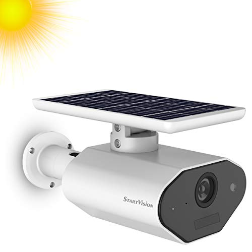 StartVision Solar Powered Security Camera, Wireless WiFi Outdoor Security Camera with Motion...