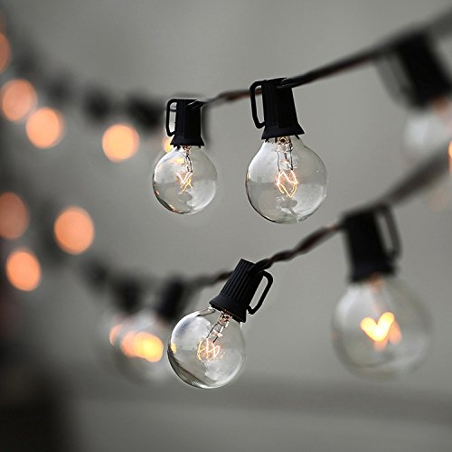 String Lights, Lampat 25Ft G40 Globe String Lights with Bulbs-UL Listd for Indoor/Outdoor Commercial...