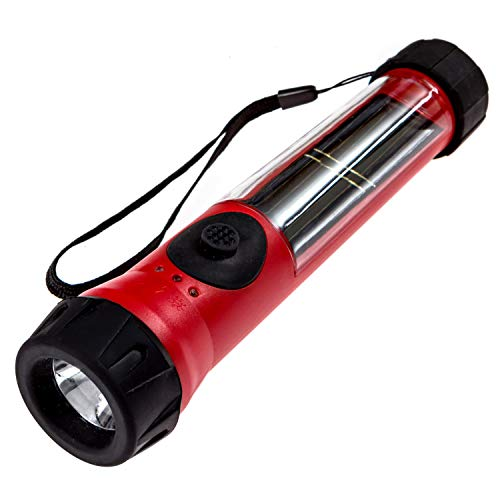 SOS Solarlight Solar Flashlight with compass and dual battery back up system Great for Emergency...