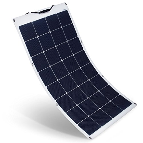 SUAOKI 100W 18V 12V Solar Panel Charger Monocrystalline Flexible Cell with Solar Connector Charging...