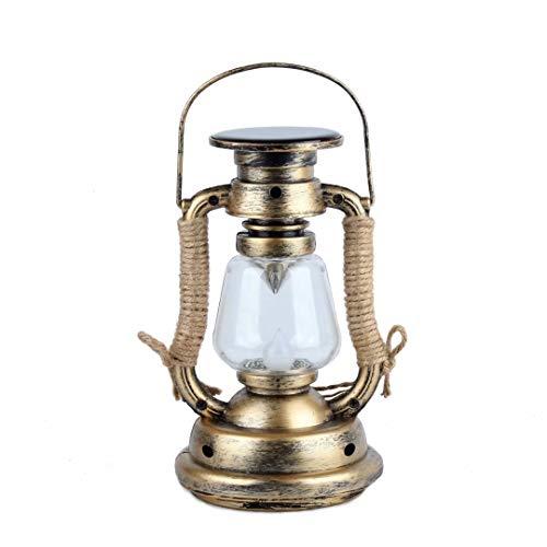 Pensura Solar Power Oil Lamp Fake Flame Light Vintage Lantern Vintage Hanging Lantern Flameless...