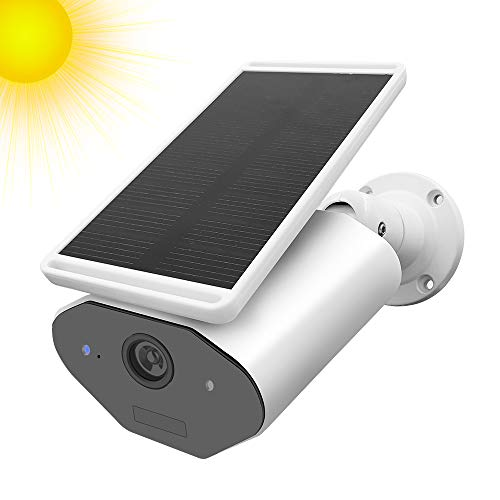 StartVision Outdoor Solar Powered Security Camera, WiFi IP Camera with Motion Detection Alarm, Night...