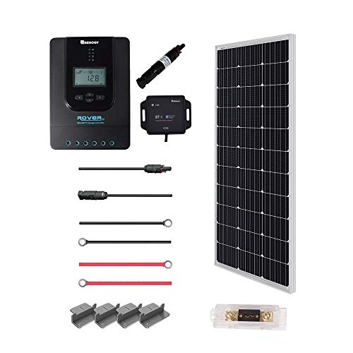 Renogy 100 Watt 12 Volt Off Grid Solar Premium Kit with Monocrystalline Solar Panel and 20A MPPT...