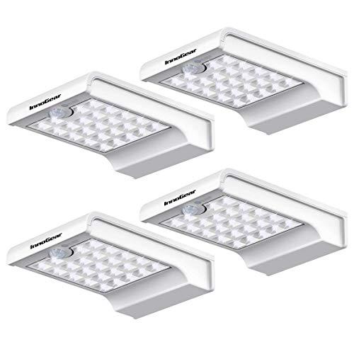 InnoGear 24 LED Solar Lights Dim to Bright Motion Sensor Outdoor Wall Light Security Night Light for...