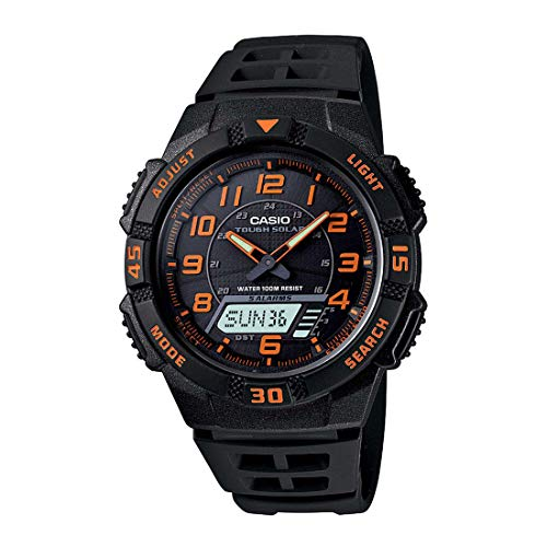 Casio Men's AQS800W-1B2VCF 'Slim' Solar Multi-Function Ana-Digi Sport Watch