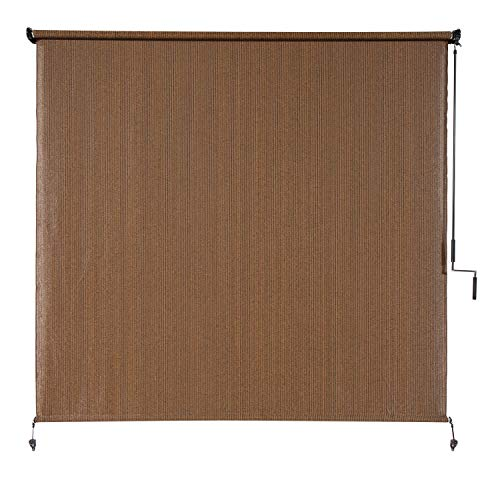 Coolaroo Exterior Roller Shade, Cordless Roller Shade with 90% UV Protection, No Valance, (4' W X 6'...