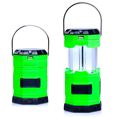 Ultra Bright Solar USB Rechargeable Camping Lantern,180 Lumen - Collapses - Suitable for: Hiking,...