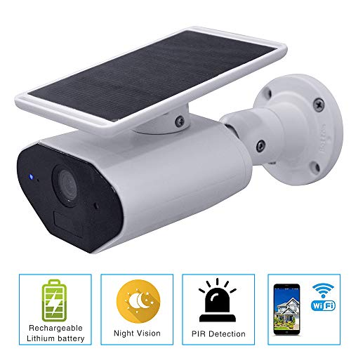 CELIBATE Solar Battery Powered Wire-Free Security Home Camera Outdoor Waterproof HD Wireless IP...