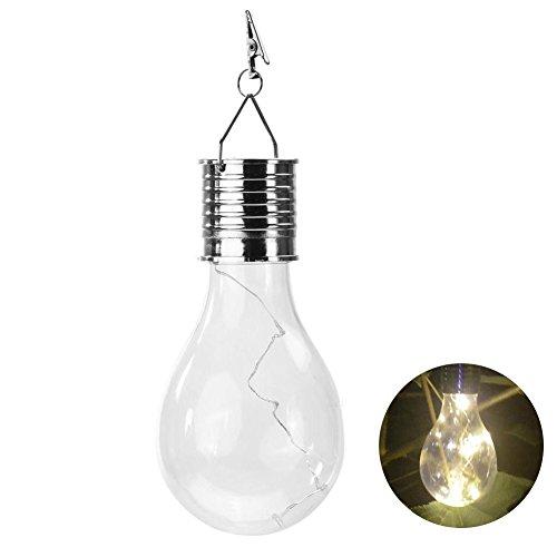Solar Garden Hanging Light Bulb, Backyard Patio Lights Indoor/Outdoor String Light for Bistro...
