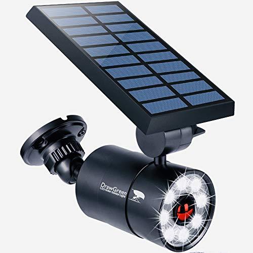 Solar Motion Sensor Light Outdoor Aluminum, 1400-Lumens 9W LED(130W Equi.), 2-Mode Spotlight, Solar...