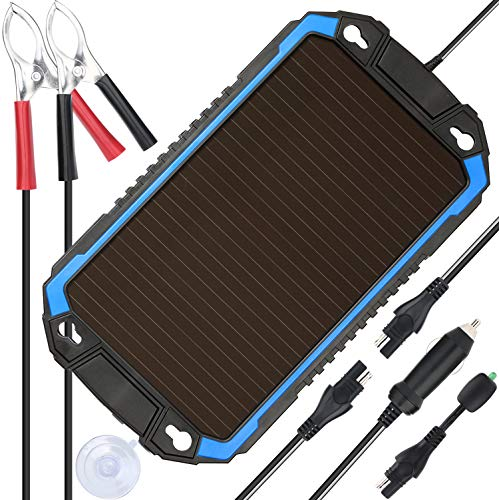 SUNER POWER 12V Solar Car Battery Charger & Maintainer - Portable 2.4W Solar Panel Trickle Charging...