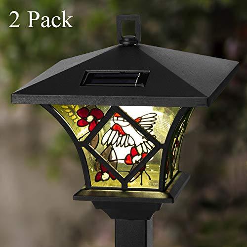 GIGALUMI Garden Solar Lights Outdoor, Tall Solar Powered Stake Lights – Decorative Hummingbird and...
