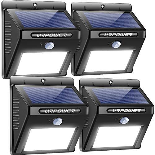 URPOWER Solar Lights Outdoor, Motion Sensor Security Lights Solar Flood Lights Waterproof Solar...