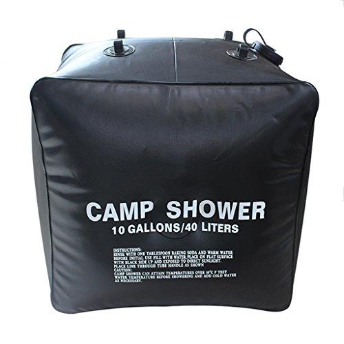 Funtalker 40Liter / 10Gallon Solar Shower Bag Outdoor Camping Hiking Camp Shower Portable Light...