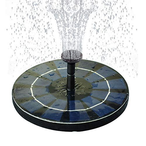 COODIA Solar Bird Bath Fountain Pump with Backup Battery Solar Powered Water Fountain Pump for Bird...